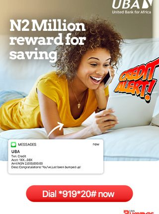 UBA N2million reward for saving advert